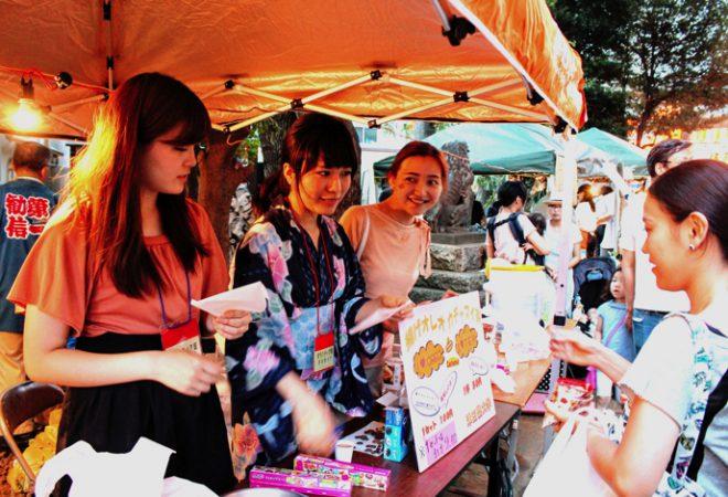 千駄ヶ谷盆踊り大会で揚げオレオの屋台を出店!
