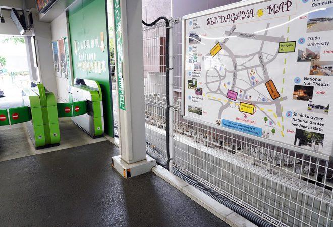 """""""英語MAP""""を千駄ヶ谷駅に設置"""