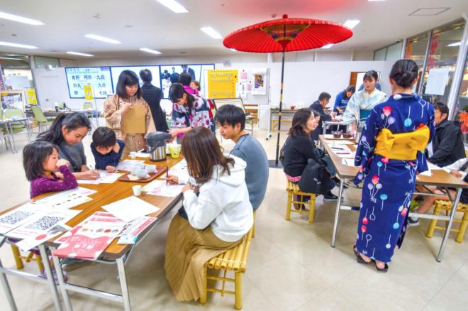 日本茶テイスティングや飯田水引体験を実施!@TCAT